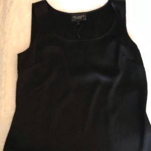 St John liquid silk tank black NWT Medium
